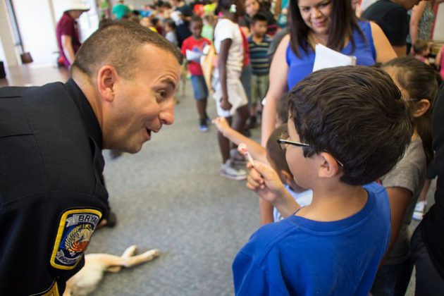 Bryan Police Department Participates in Animal Heroes Day 2015