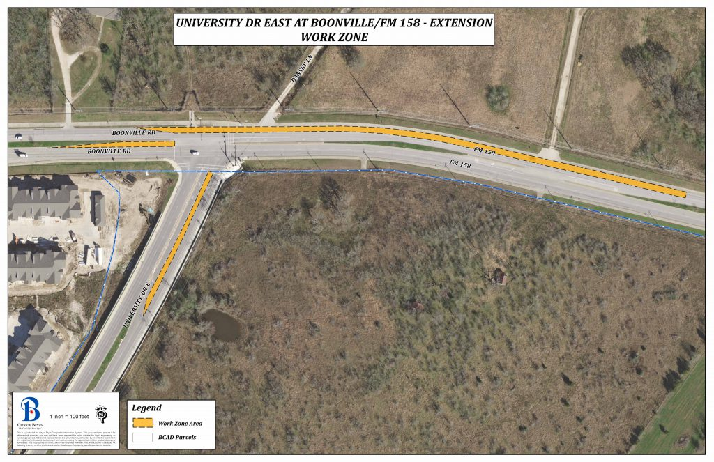 University Drive, Boonville Road Lane Closures