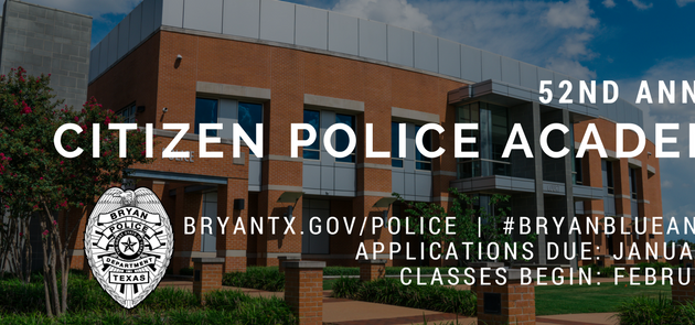 Now Accepting Applications for BPD Citizen Police Academy
