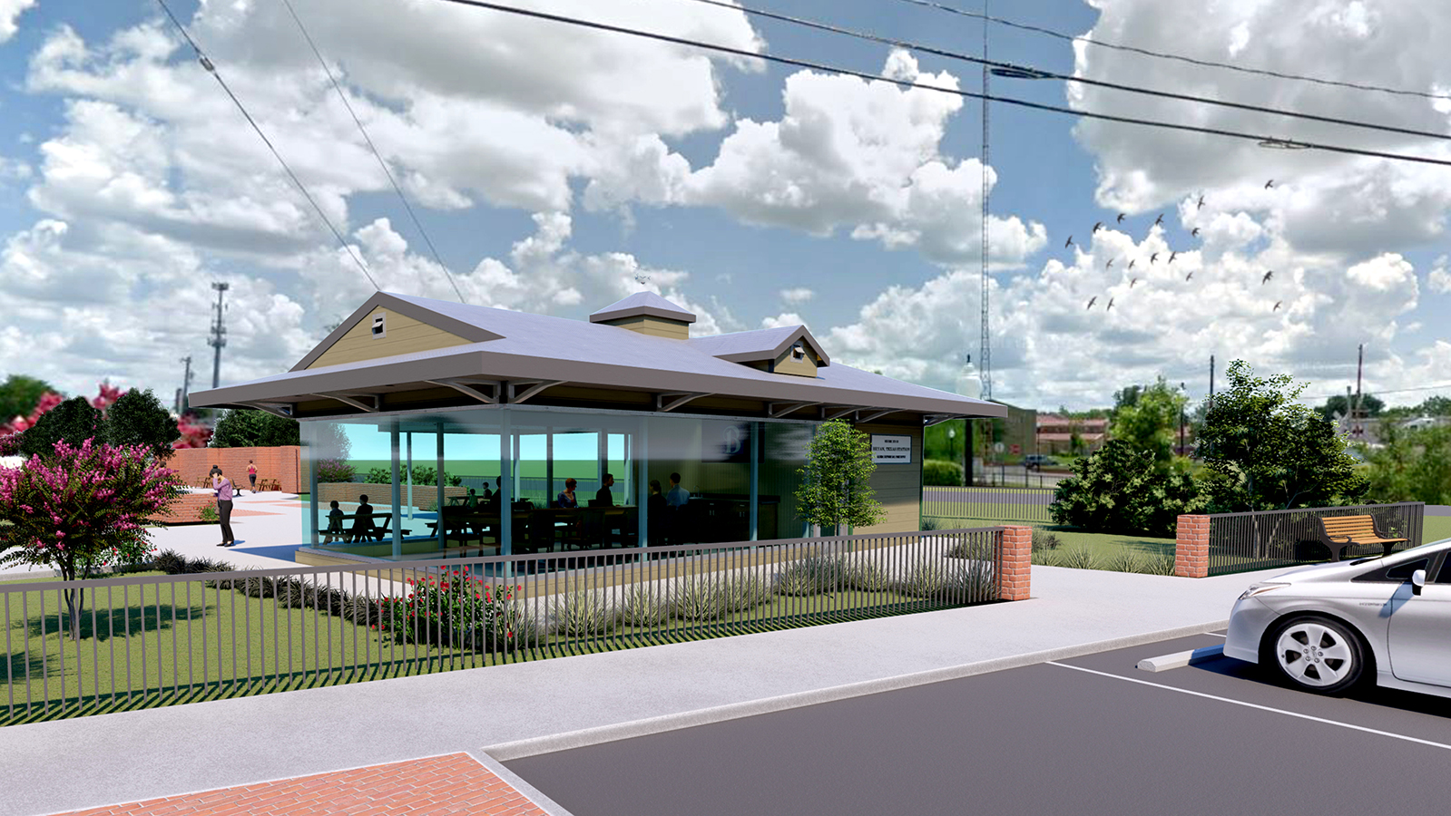 proposed concept for depot in Sale Park