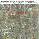 Road closure beginning Sept. 11: Woodville Road between Woody Lane and Old Hearne Road